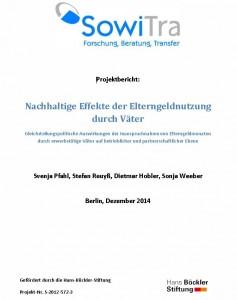 cover Projektbericht Elterngeldnutzung Väter 2014